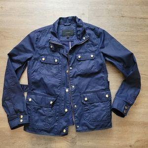 J crew downtown field jacket navy blue